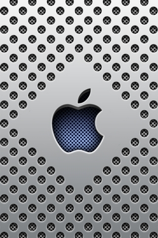 Silver Dots Apple