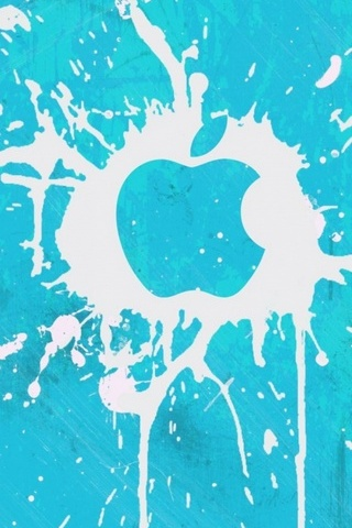 Apple Spray Blot White Blue