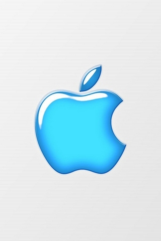 Apple blaues Logo