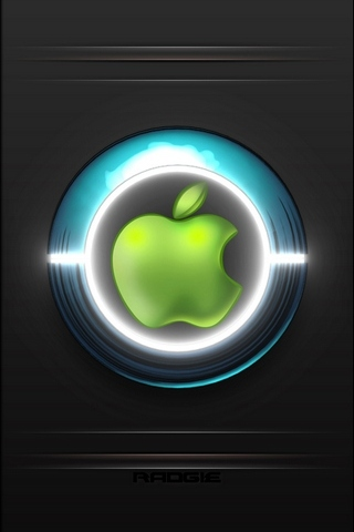 Apple Logo Neon