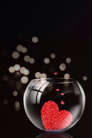 Glass Jar Of Hearts
