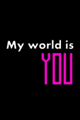 내 세상은 너야.