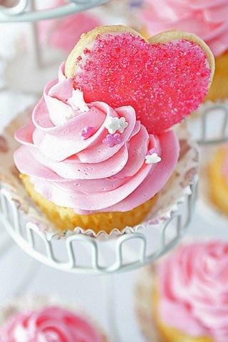 하트 컵 케익