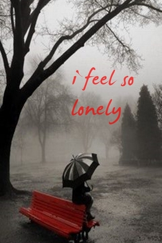 Lonely Woman In Rain