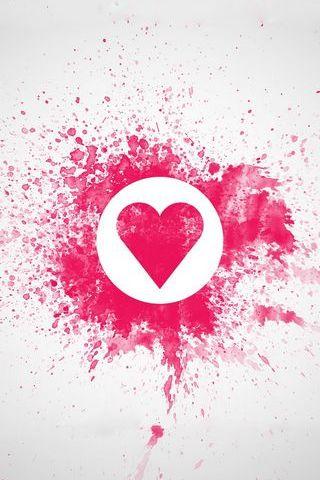 Doodle de coeur d'amour