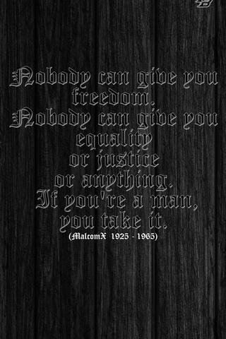 Nobody Can ... (Malcom X)