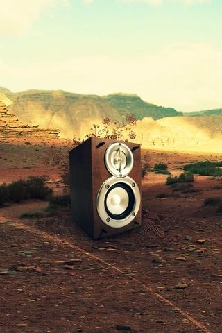 Speaker In Desert
