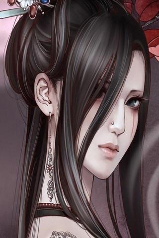 Sad Asia Girl