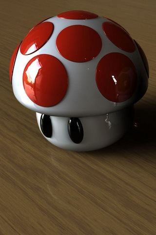 Cute 3D Mushrooms