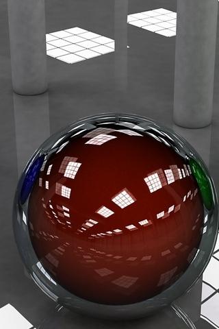 3 डी बॉल्स आर्ट
