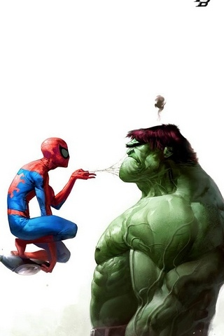 Spiderman vs. Hulk