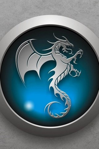 Tribal Dragon Blue