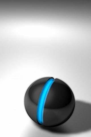 Blue Neon Ball