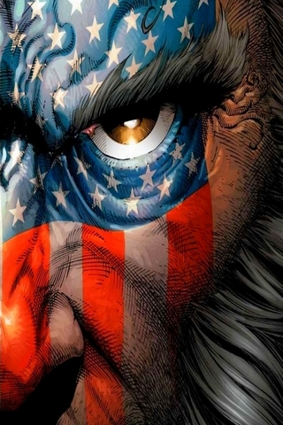 Wolverine Amerika Flagge