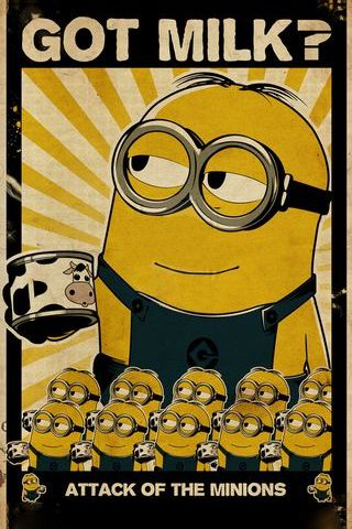 Despicable Me Minion Vintage Poster I