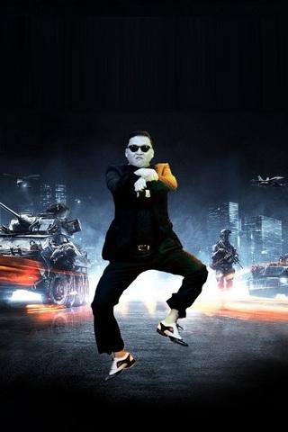 Gangnam-Stil-Psy-Battlefield