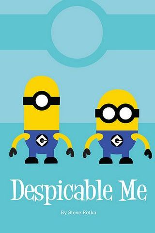 Despicable Me Minion vintage Poster II