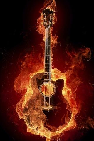Flame Art Guitar