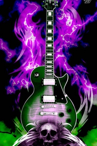 Gitar ve kafatasları
