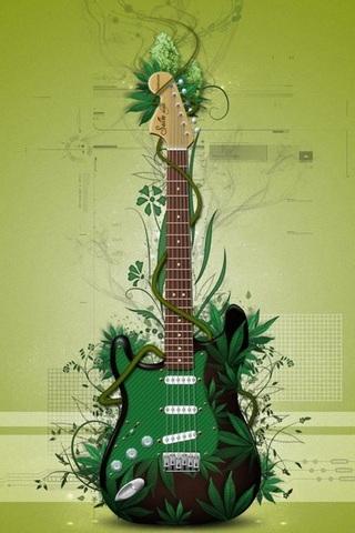 Grüne Gitarre