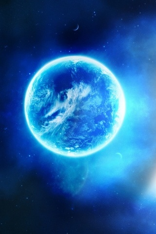 Earth-glowing-blue