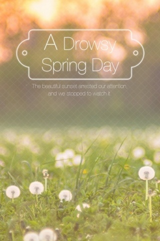 Drowsy Spring Day