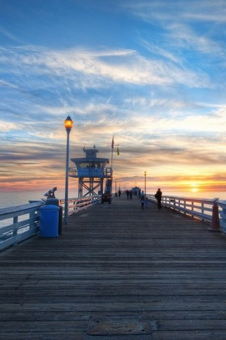Pier-at-sunset