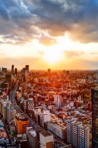 Japonya Tokyo Şehir Manzaraları