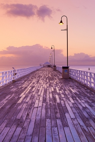 Romantic Bridge On The Sea