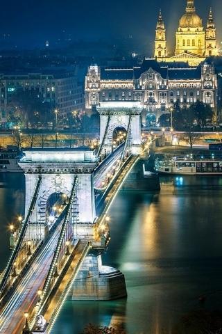Szechenyi-Zincir-Köprü-Budapeşte