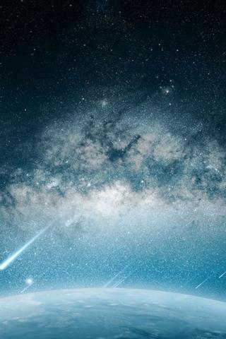 Space Meteorite Planet