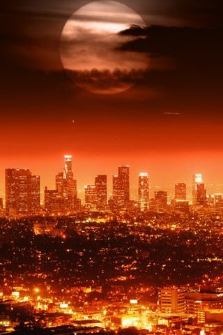 Full Moon City Lights
