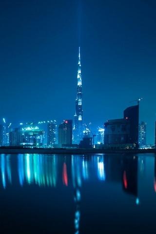 Blue-Dubai-Night