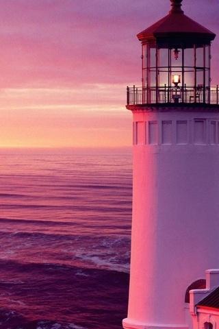 Sunset Sea Lighthouse