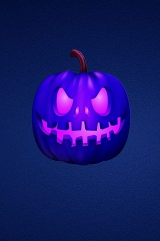 Blue-scary-pumpkin