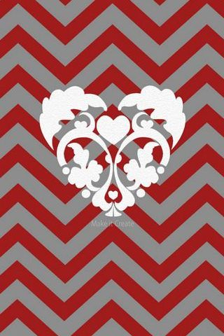 Chevron Valentine Red