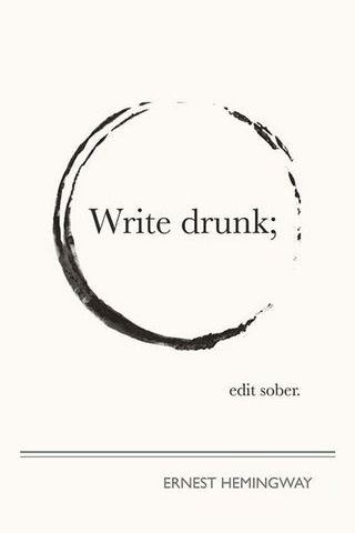 Написать пьяный; Изменить трезвый