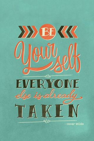 Be Yourself Cuz Everyone Else Is Already Taken - Oscar Wilde Vintage Funny Poster