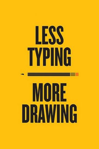 Less Typing, More Drawing