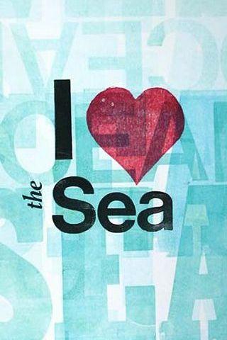 ฉันรักทะเล Vintage โปสเตอร์ตลก