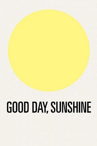 Good Day, Sunshine Vintage Funny Round Circle Yellow Poster