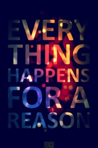 Alles geschieht aus einem Grund