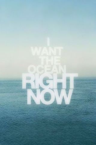 I Want The Ocean Right Now Vintage Poster