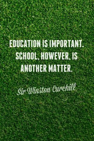 Education Is Another Matter
