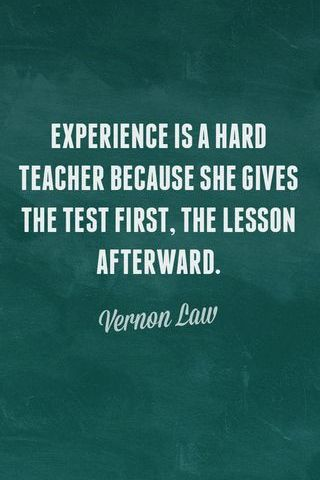 Experience - Hard Teacher