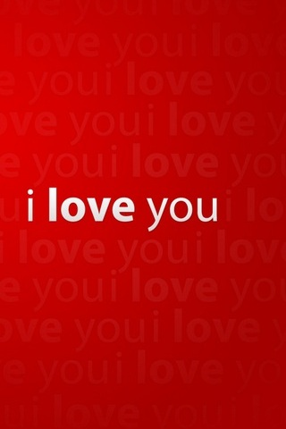 I Love You - Red