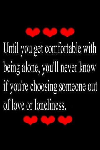 Miłość do samotności