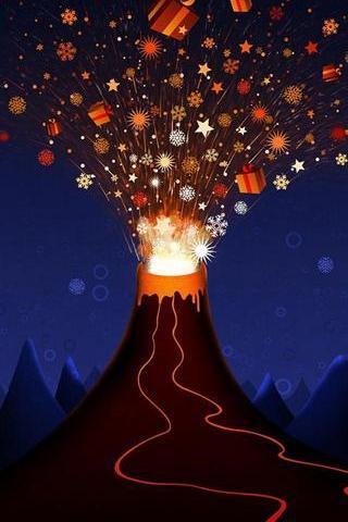 Christmas Volcano