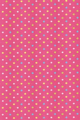 Pink Colorful Polka Dots Shelves