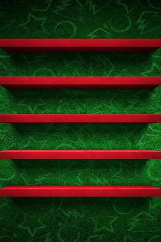 Green And Red Shelf